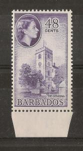 Barbados 1956 QEII 48c SG298 MNH