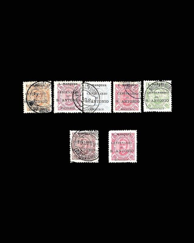 VINTAGE: MOZAMBIQUE 1895 USD LH LHR SCOTT# 22-28 $387.50 LOT #1895X87
