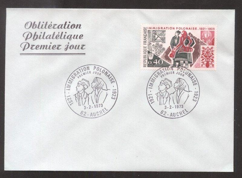France 1973 Polish refugees     FDC       K.406