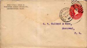 United States, Postal Stationery, Massachusetts