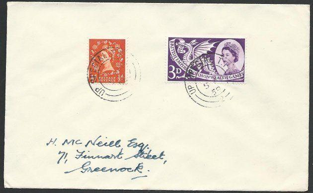 GB 1958 cover - UP SPECIAL TPO railway cancel..............................50352