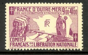 FRENCH COLONIES GENERAL ISSUE 1943 Free French Colonies Aid To France Sc B2 MH