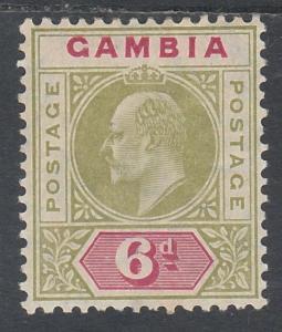 GAMBIA 1904 KEVII 6D WMK MULTI CROWN CA