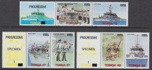 Tonga 791-796a Specimens MNH VF