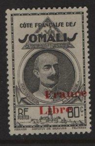 SOMALI COAST, 209, HINGED, 1943, GOVERNOR LEONCE LAGARDE