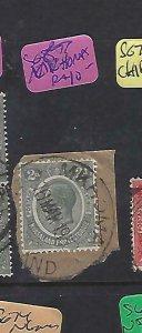 NYASALAND   (P2109BB)  1930   KGV 2D PIECE  MKHOMA  SG 87  VFU