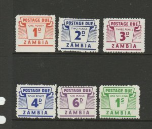 Zambia 1964 Dues MM SG D11/6