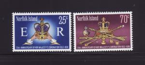 Norfolk Island 229-230 Set MNH Coronation Regalia, Crowns