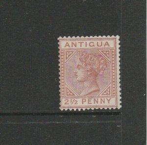 Antigua 1882 Crown CA 2 1/2d Red Brown Fresh LMM SG 22