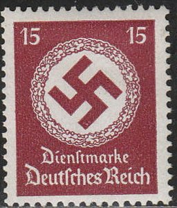 Stamp Germany Official Mi 173 WWII Fascism War Era Emblem War Era Dienst MNH