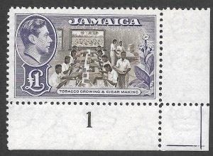 Doyle's_Stamps: Superb 1949 Jamaican 1-Pd King George VI Postage Stamp, #141**