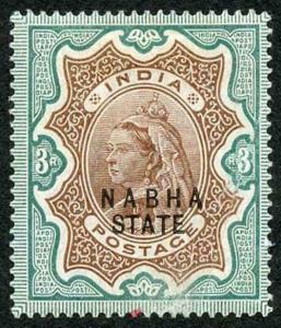 ICS NABHA SG32 3R Brown and Green Only 576 printed (creased and small red mark)