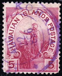 US HAWAII STAMP #76 1894  5C USED STAMP #2