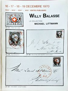 1970 Auction Catalogue Willy Balasse - La Collection Michael Littmann