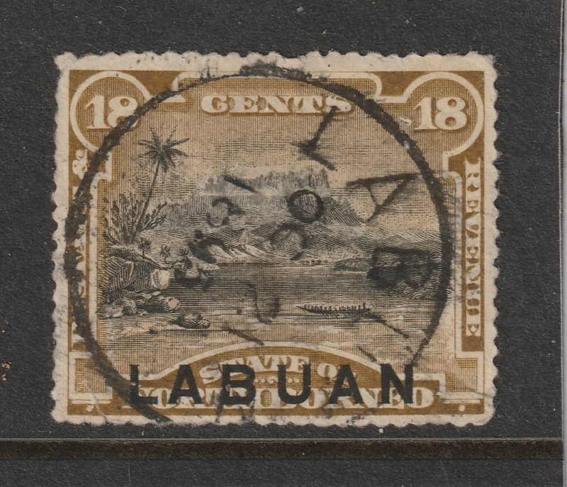 Labuan a postally used 18c from the 1894 set