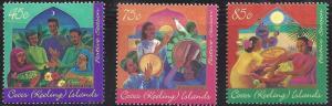 Cocos Island 316-318 Christmas 1996