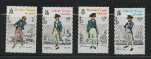 British Virgin Islands  (1972)  - Scott # 237 - 240,