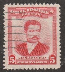 Philippines stamp, Scott#592, used, hinged, M.D. Pilar, #592