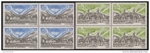 French Andorra #344-345 1986 Europa Block Set MNH