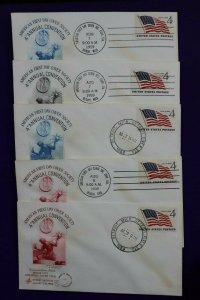 American FDC Society Detroit MI 1959 Convention Philatelic Expo Cachet Cover set