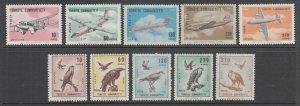 Turkey Sc C39-C48 MNH. 1967 Air Mail issues, 2 cplt sets, VF