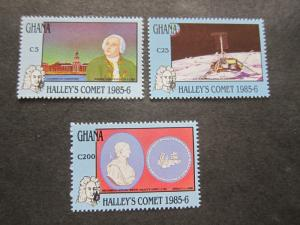 Ghana 1987 Sc 1029-31 set MNH