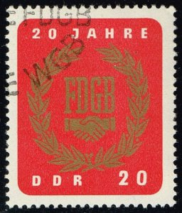 Germany DDR #773 Free German Trade Union; CTO (0.25) (3Stars)