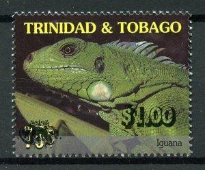 Trinidad & Tobago 2018 MNH Vanishing Faces Iguana Lizards $1 OVPT 1v Set Stamps
