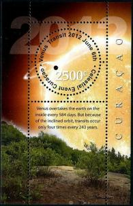 HERRICKSTAMP CURACAO Sc.# 74 Event Venus Transit 2012 Stamp S/S
