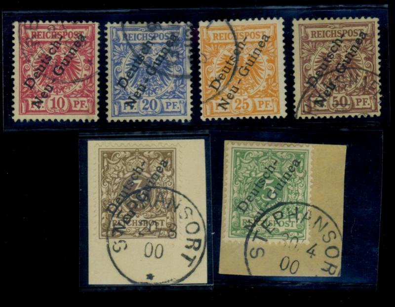 Germ New Guinea #1-6 Used F-VF CAt$142.25