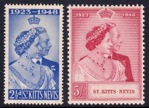 St. Kitts and Nevis - Scott #93-94 - MH - Gum toning - SCV $11.25