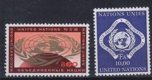 UNO Genf [1970] MiNr 0009-10 ( **/mnh )