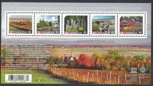Canada #2889 MNH ss, UNESCO world heritage sites in Canada, issued 2016