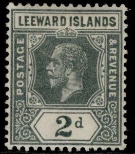 LEEWARD ISLANDS GV SG49, 2d slate grey, M MINT.