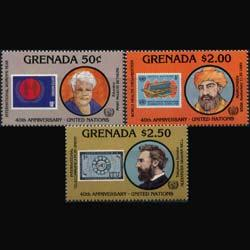 GRENADA 1985 - Scott# 1338-40 UN 40th.-Persons Set of 3 NH