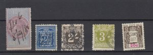 New South Wales QV Onwards Stamp Duty Collection Of 5 Fine Used JK6337