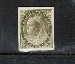Canada #84P Extra Fine Plate Proof India Paper On Card