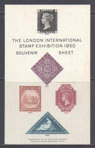 GB London 1950 Stamp Exhibition Souvenir Sheet