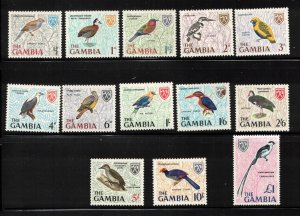 GAMBIA Scott # 215-27 MH & MNH - Set Of Birds On Stamps