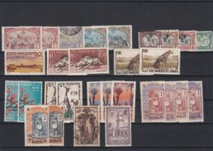 French Colonies Somalia Stamps Ref 28935