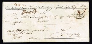 GERMANY STAMP BAVARIA BAYERN 1894 FOLDED LETTER WITH SEAL
