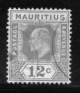 Mauritius 144: 12c Edward VII, used, F-VF