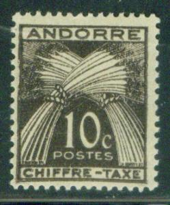French Andorre Scott J21 MH* postage due stamp  CV $0.75