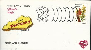 Beautiful Pugh Designed and Painted Kentucky FDC -only 50 created...