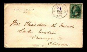 1882 Wmsons & Ash Rpo / VA, WVA & KY RR - L18075