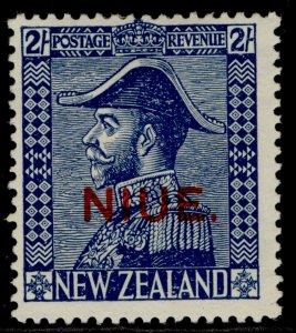 NEW ZEALAND - Niue GV SG48, 2s deep blue, M MINT. Cat £15.
