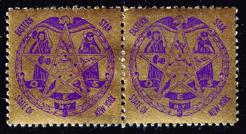 US STAMP  O.E.S. Masonic CHARITY MH/OG PAIR Stamps COLLECTION LOT #4
