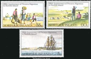 Norfolk Islands Scott 277-279 Mint never hinged.