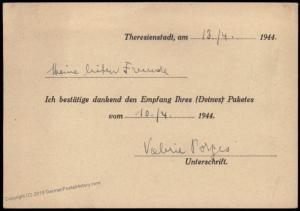 3rd Reich Germany Bohemia Theresienstadt KL Aeltestenrat der Juden Handsta 83975