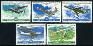 Russia C122-C126, MNH. Aeroflot Planes, 1979